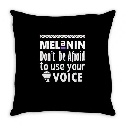Black Girls… Don't Be Afraid To Use Your Voice Throw Pillow Designed By Cogentprint