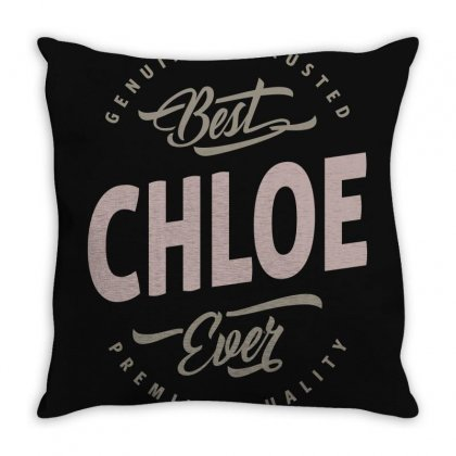 Is Your Name, Chloe? This Shirt Is For You! Throw Pillow Designed By Chris Ceconello