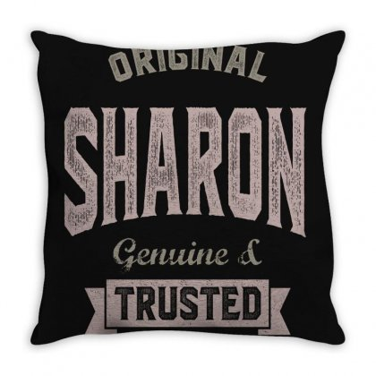 Is Your Name, Sharon? This Shirt Is For You! Throw Pillow Designed By Chris Ceconello