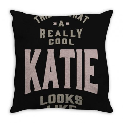 Is Your Name, Katie? This Shirt Is For You! Throw Pillow Designed By Chris Ceconello