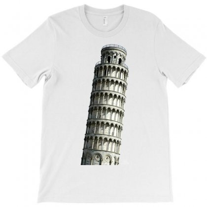 Leaning Tower Of Pisa Tower Travel T-shirt Designed By Salmanaz