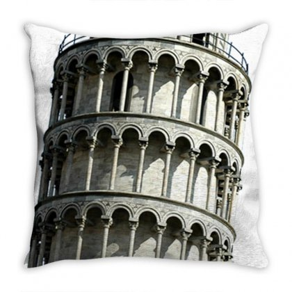 Leaning Tower Of Pisa Tower Travel Throw Pillow Designed By Salmanaz