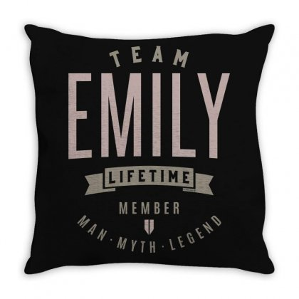Is Your Name, Emily? This Shirt Is For You! Throw Pillow Designed By