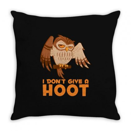 I Don't Give A Hoot Owl Throw Pillow Designed By