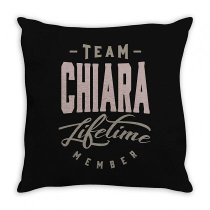 Is Your Name, Chiara? This Shirt Is For You! Throw Pillow Designed By