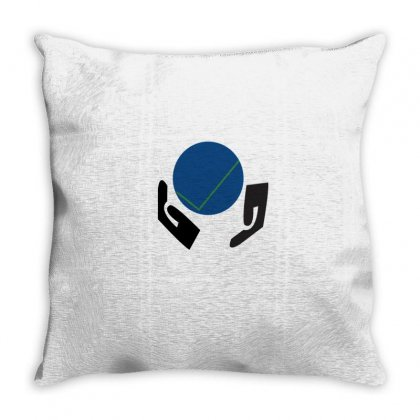 World Throw Pillow Designed By