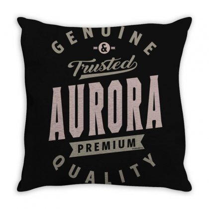 Is Your Name, Aurora? This Shirt Is For You! Throw Pillow Designed By