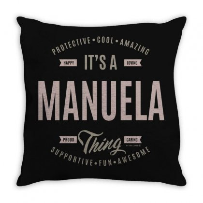 Is Your Name, Manuella ? This Shirt Is For You! Throw Pillow Designed By