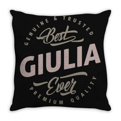 Is Your Name, Giulia ? This Shirt Is For You! Throw Pillow Designed By