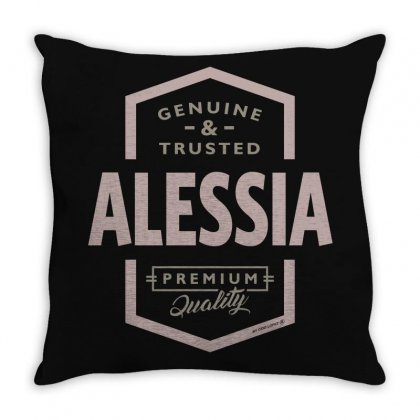 Is Your Name, Alessia? This Shirt Is For You! Throw Pillow Designed By