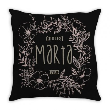 Is Your Name, Marta? This Shirt Is For You! Throw Pillow Designed By