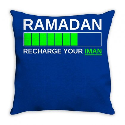 Ramadan Recharge Your Iman Throw Pillow Designed By