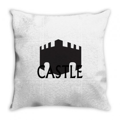 Castle Throw Pillow Designed By