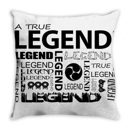 Legend Black Throw Pillow Designed By