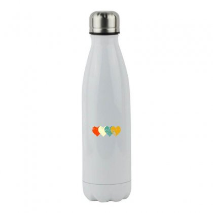 Vintage Heart Stainless Steel Water Bottle Designed By