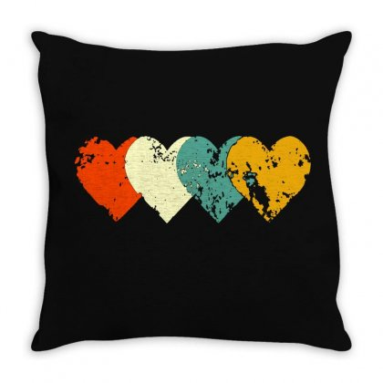 Vintage Heart Throw Pillow Designed By
