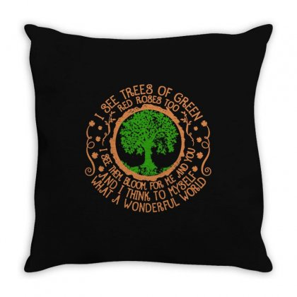 Trees Of Green Throw Pillow Designed By