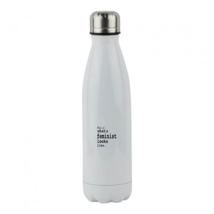 This Is What  A Feminist Look Like Stainless Steel Water Bottle Designed By