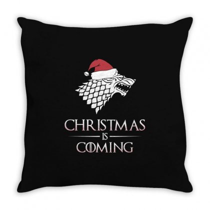 Christmas Is Coming T Shirt Throw Pillow Designed By Hung