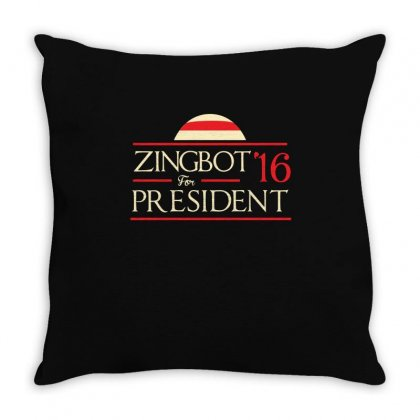Zingbot For President Shirt Throw Pillow Designed By Hung