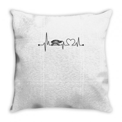 Turtle Heartbeat Tshirt Throw Pillow Designed By Hung