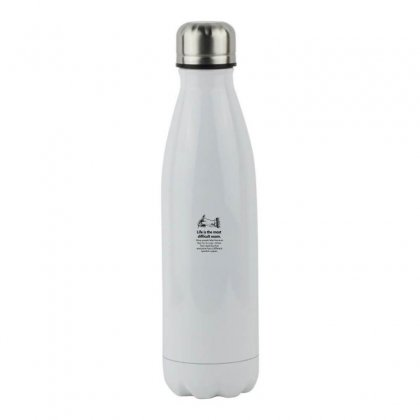 Test Paper Black Stainless Steel Water Bottle Designed By