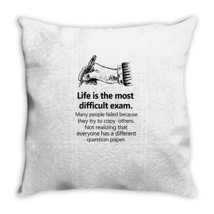 Test Paper Black Throw Pillow Designed By