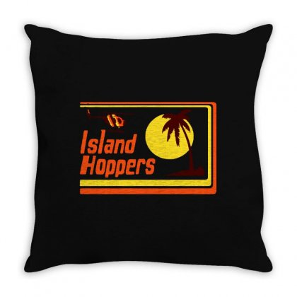 Sunset Island Throw Pillow Designed By