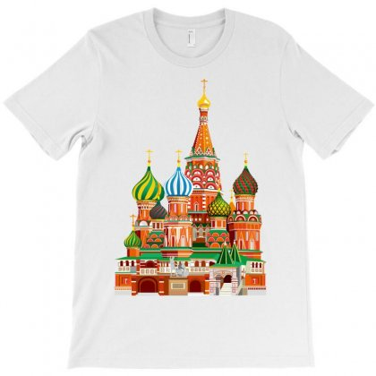 Moscow Kremlin Saint Basils Cathedral Red Square L Vector Illustration T-shirt Designed By Salmanaz