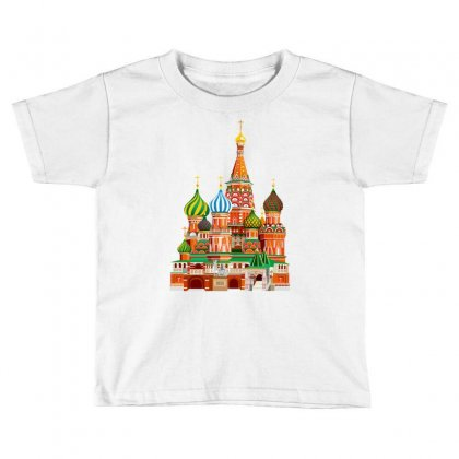 Moscow Kremlin Saint Basils Cathedral Red Square L Vector Illustration Toddler T-shirt Designed By Salmanaz