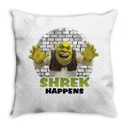 Shrek Happens For Light Throw Pillow Designed By Sengul