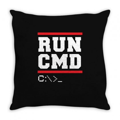 Run Cmd T Shirt Throw Pillow Designed By Hung