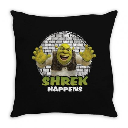 Shrek Happens For Dark Throw Pillow Designed By Sengul