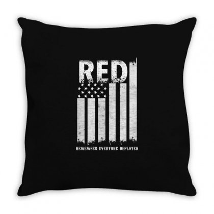 Red Remember Everyone Deployed Shirts Throw Pillow Designed By Hung