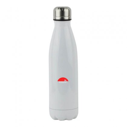 Red Logo Here Stainless Steel Water Bottle Designed By