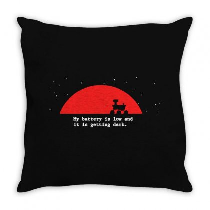 Red Logo Here Throw Pillow Designed By