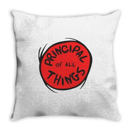 Principal Things Throw Pillow Designed By