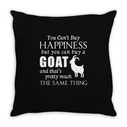 Happiness Goats T Shirt Throw Pillow Designed By Hung