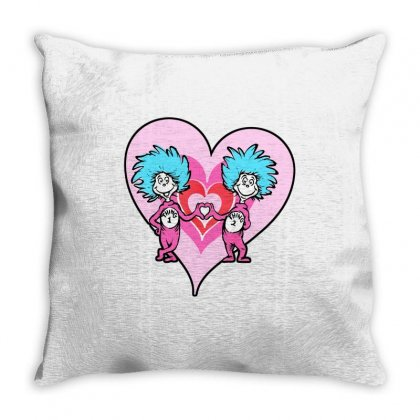 Pink Hearts Throw Pillow Designed By