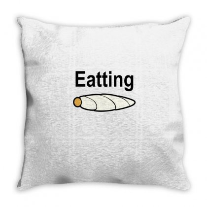 Eatting Throw Pillow Designed By