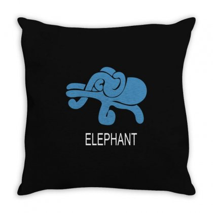 Elephant Throw Pillow Designed By