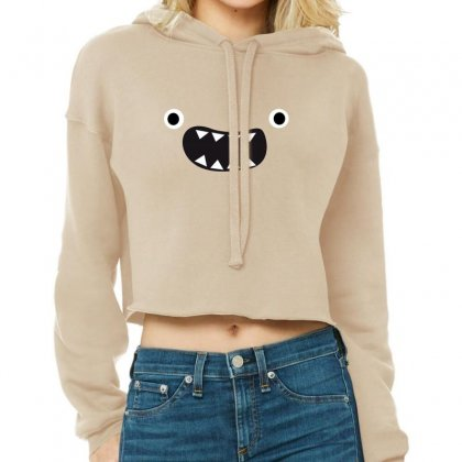 Face Cute Cropped Hoodie Designed By