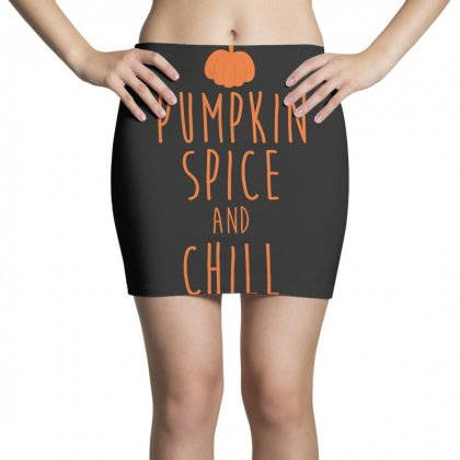 Pumpkin Spice And Chill T Shirt Mini Skirts Designed By Hung