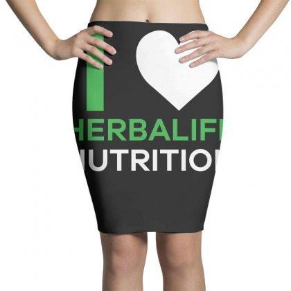 I Love Herbalife Nutrition T Shirt Pencil Skirts Designed By Hung