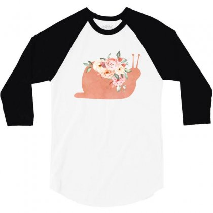Floral Snail 3/4 Sleeve Shirt Designed By