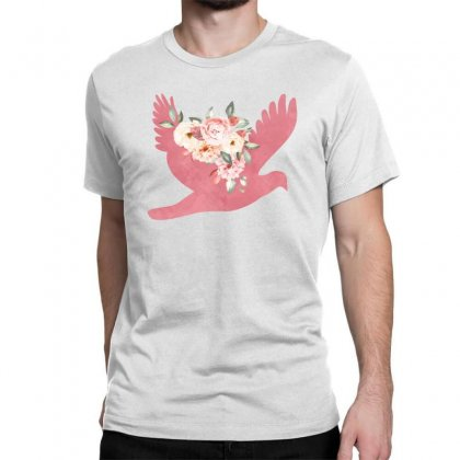 Floral Bird Classic T-shirt Designed By