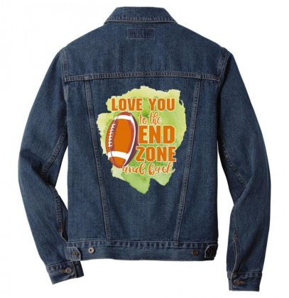 Love You To The End Zone And Back Men Denim Jacket Designed By