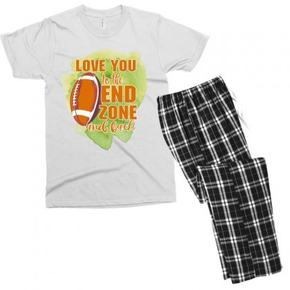 Love You To The End Zone And Back Men's T-shirt Pajama Set Designed By