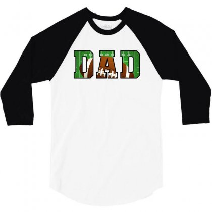 Dad American Football 3/4 Sleeve Shirt Designed By