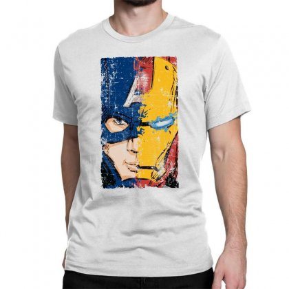Captain America And Iron Man Classic T-shirt Designed By